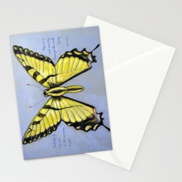 Yellow Dragontail Stationery Cards
