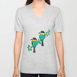 Two bee eaters Unisex V-Neck