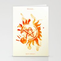 supernatural Stationery Cards featuring Supernatural by Rose's Creation