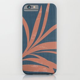 Blue Abstract Leaf iPhone Case