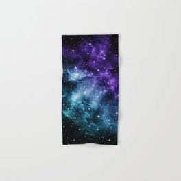 Purple Teal Galaxy Nebula Dream #1 #decor #art #society6 Hand & Bath Towel