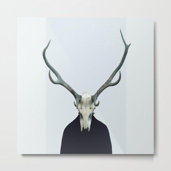 Living Skull and Horns Metal Print