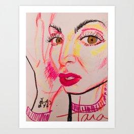 self portrait in neon (tara savelo) Art Print