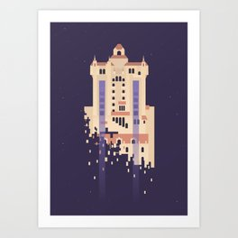 The Hollywood Tower Hotel Art Print