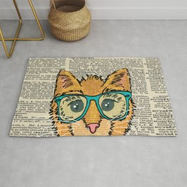 Orange Kitty Cat Rug
