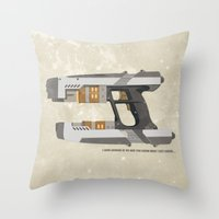 star lord Throw Pillows featuring STAR LORD - PETER QUILL by LindseyCowley