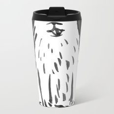 fluffy dog Metal Travel Mug