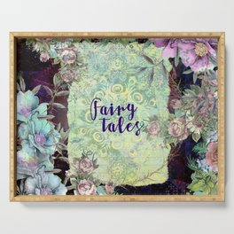 Fairy Tales Floral Fantasy Scroll Serving Tray