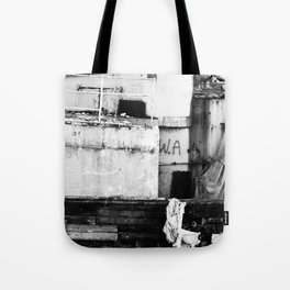 Destroyed - B/W Tote Bag