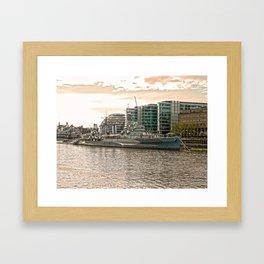 HMS Belfast 2 HDR Framed Art Print