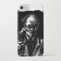 freud iPhone & iPod Cases featuring Freud by Long Live The Doughnuts