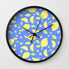 Capri Lemon Slices Wall Clock