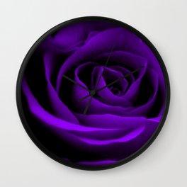 A Purple Rose Wall Clock
