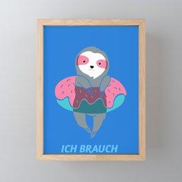 Ich brauch Urlaub - Urlaubsreif Entspannung Reise Framed Mini Art Print