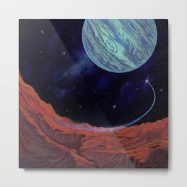 Blues of outer space Metal Print