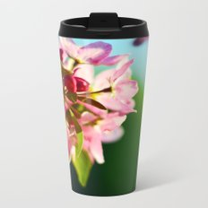 Pink Flowers Blue sky Metal Travel Mug