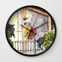 fifth element Wall Clocks featuring Fifth Street  by ArchiNERD
