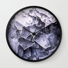 Cracked Ice Tiles In Lake Shore #decor #buyart #society6 Wall Clock