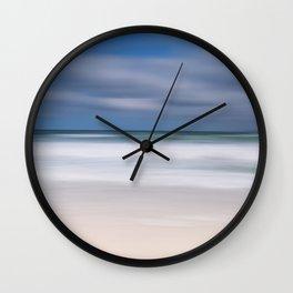 blue seas cloudy sky Wall Clock