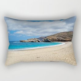 Vori located at the most wild side of Andros, Greece Rectangular Pillow