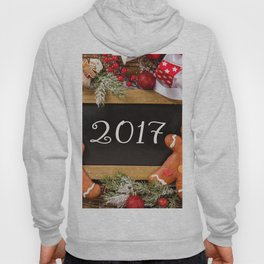 New Year 2017 New Year cookies Christmas Christmas decoration Hoody