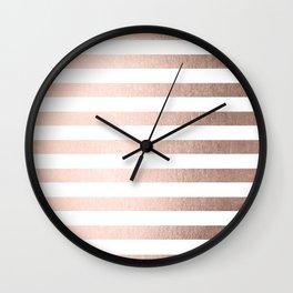 Simply Striped Moon Dust Bronze Wall Clock