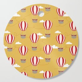 Hot air balloon pattern cute decor for boys or girls room Cutting Board