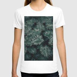 Monstera Leaves - Blue T-shirt