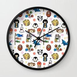 Lucky Japan Doodle Wall Clock
