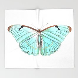 Butterfly Flutter By Throw Blanket