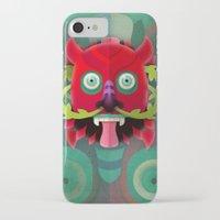 diablo iPhone & iPod Cases featuring Diablo by Blanca Limón
