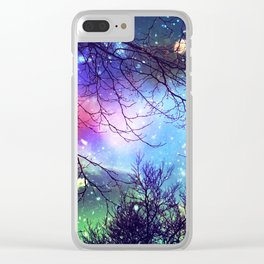 look to the stars Clear iPhone Case