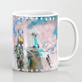 The Lovers In Pink Coffee Mug