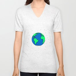 Earth And Stars Unisex V-Neck