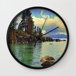 Sand Harbor Lake Tahoe III Wall Clock