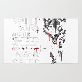 Leave one wolf alive and the sheep are never safe Rug