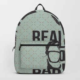Real men go to real barbers Backpack