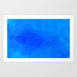 DARK BLUE WATERCOLOR BACKGROUND  Art Print