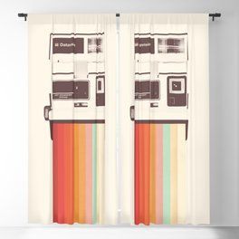 Instant Camera Rainbow Blackout Curtain