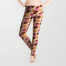 Coffee & Donuts Pattern Leggings