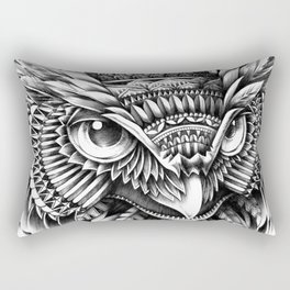 Ornate Owl Head Rectangular Pillow