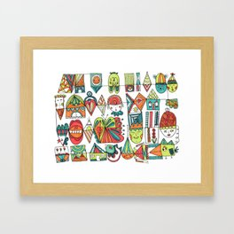 Jolly Character Sketch Framed Art Print