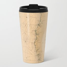 Map of Lake Michigan 1898 Travel Mug