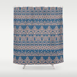 Stripes Mandala 12 Shower Curtain