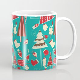 Vintage Christmas Teal Coffee Mug