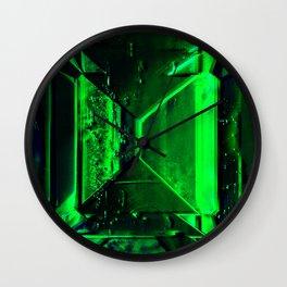 Fractured Emerald Wall Clock