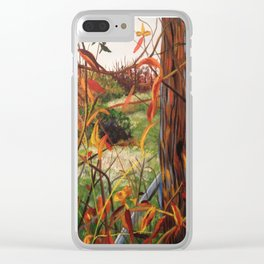 Autumn Lights Clear iPhone Case