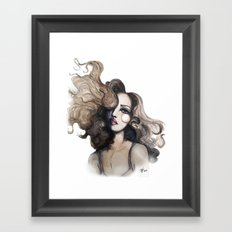Curl // Fashion Illustration Framed Art Print