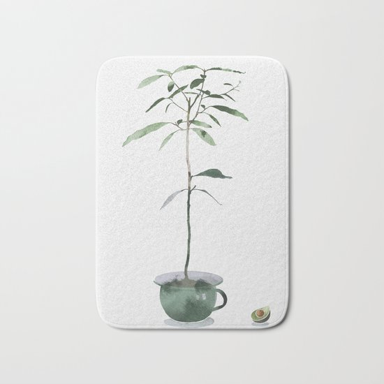 Avocado Tree Bath Mat