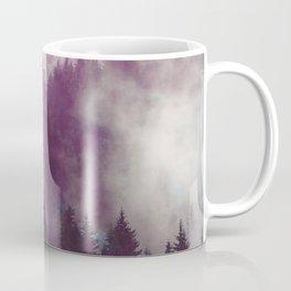 Clear life's mist to see beauty. Purple Coffee Mug